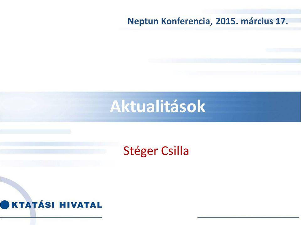 Neptun Konferencia, 2015. március 17.