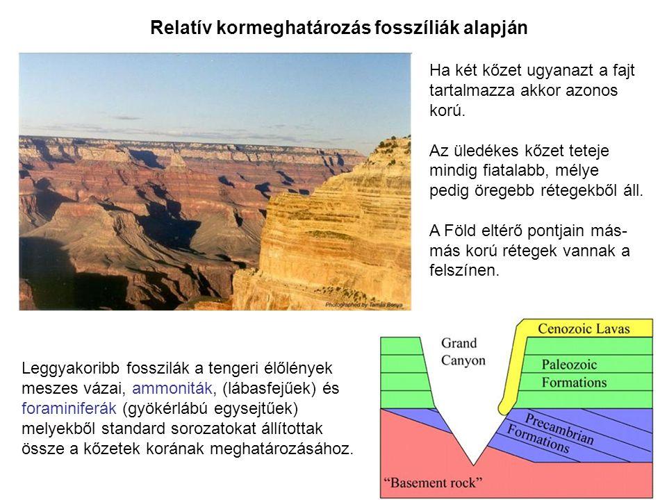 Relatív kormeghatározás fosszíliák alapján