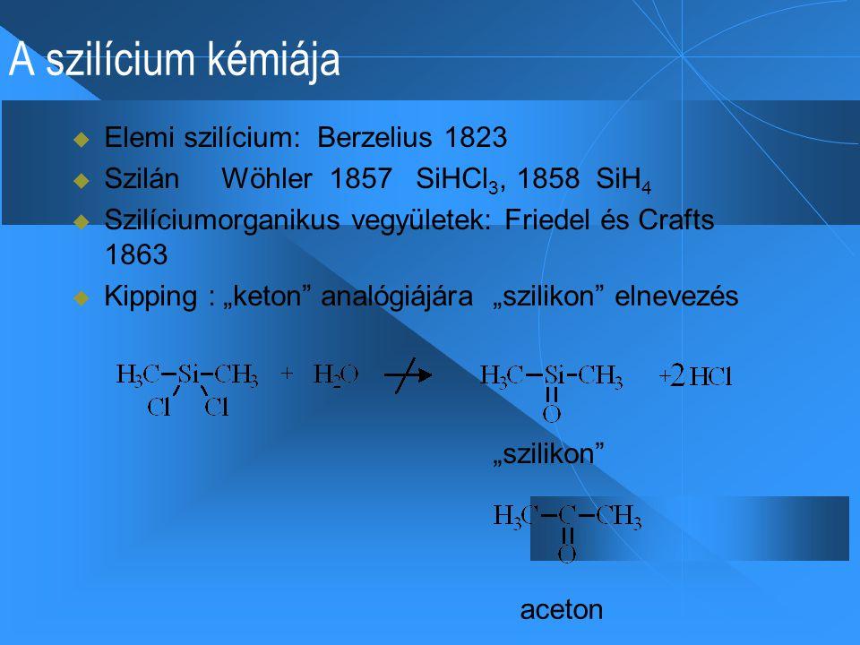 A szilícium kémiája Elemi szilícium: Berzelius 1823