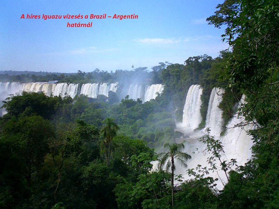 A híres Iguazu vízesés a Brazil – Argentin határnál