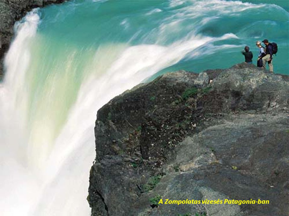 A Zompolatas vízesés Patagonia-ban