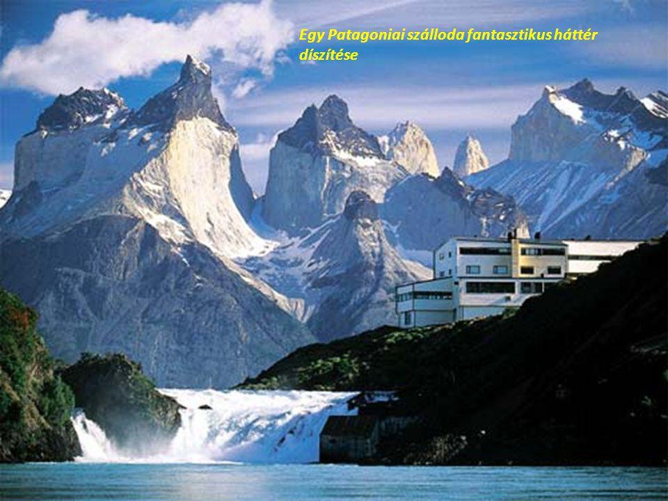 Egy Patagoniai szálloda fantasztikus háttér díszítése