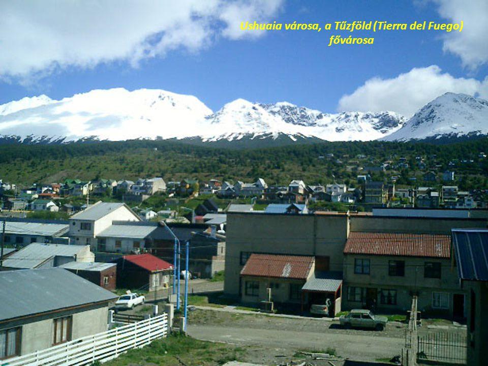 Ushuaia városa, a Tűzföld (Tierra del Fuego) fővárosa
