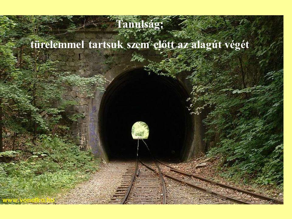 türelemmel tartsuk szem előtt az alagút végét