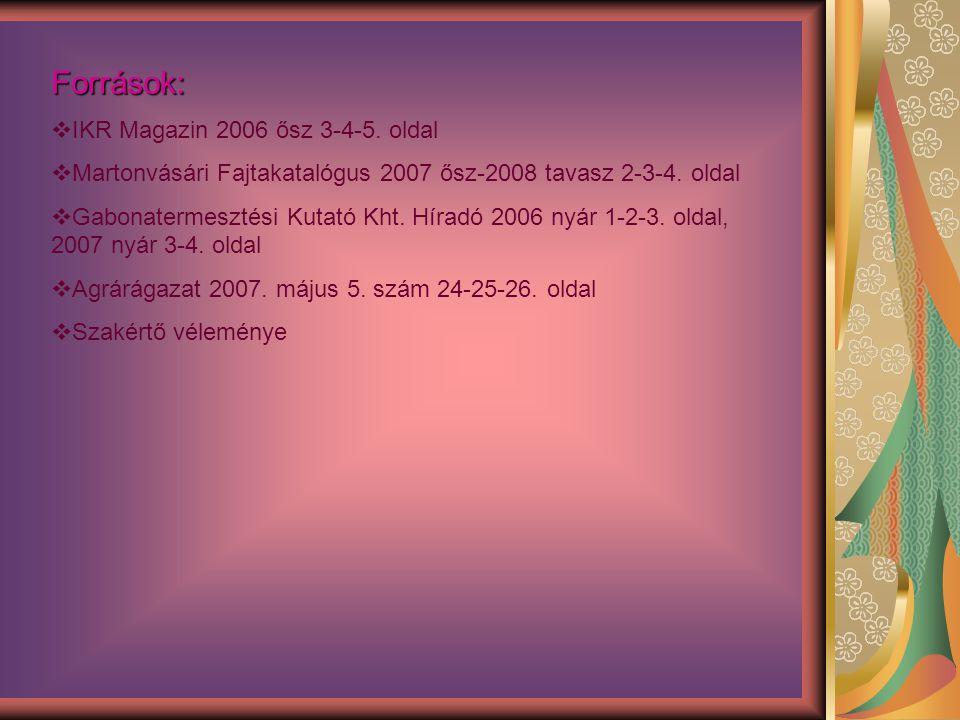 Források: IKR Magazin 2006 ősz 3-4-5. oldal