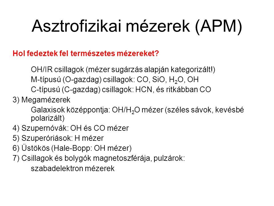 Asztrofizikai mézerek (APM)