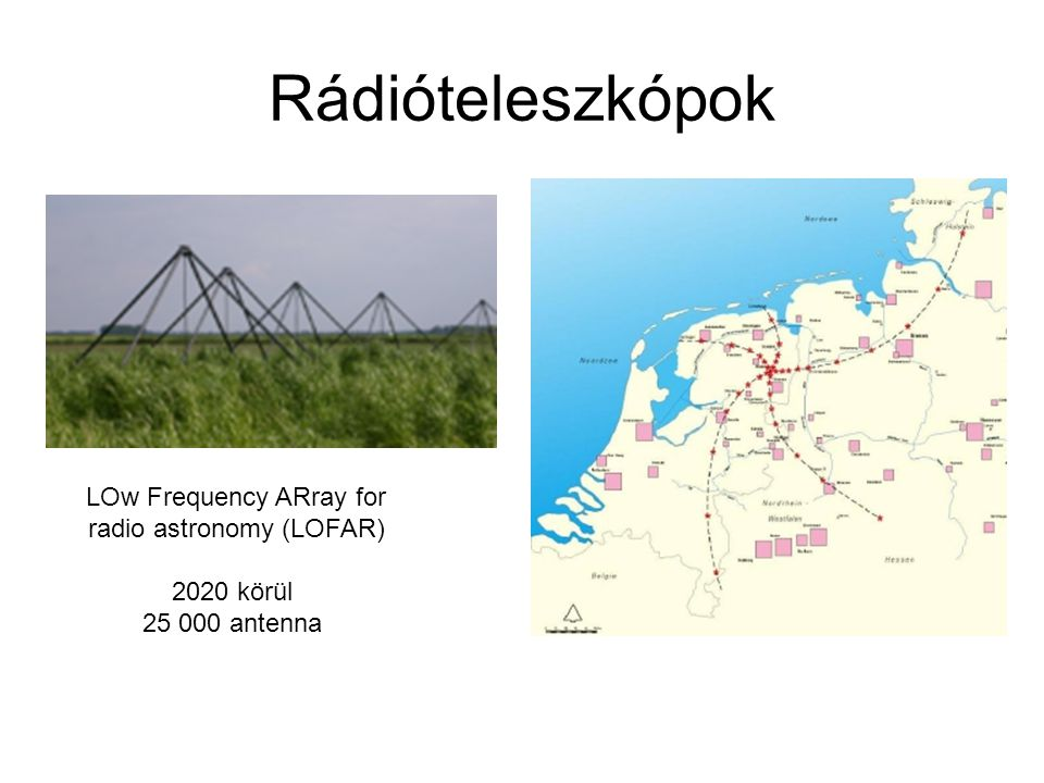 Rádióteleszkópok LOw Frequency ARray for radio astronomy (LOFAR)