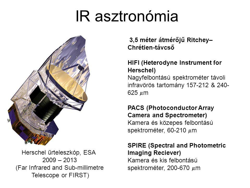 IR asztronómia 3,5 méter átmérőjű Ritchey–Chrétien-távcső