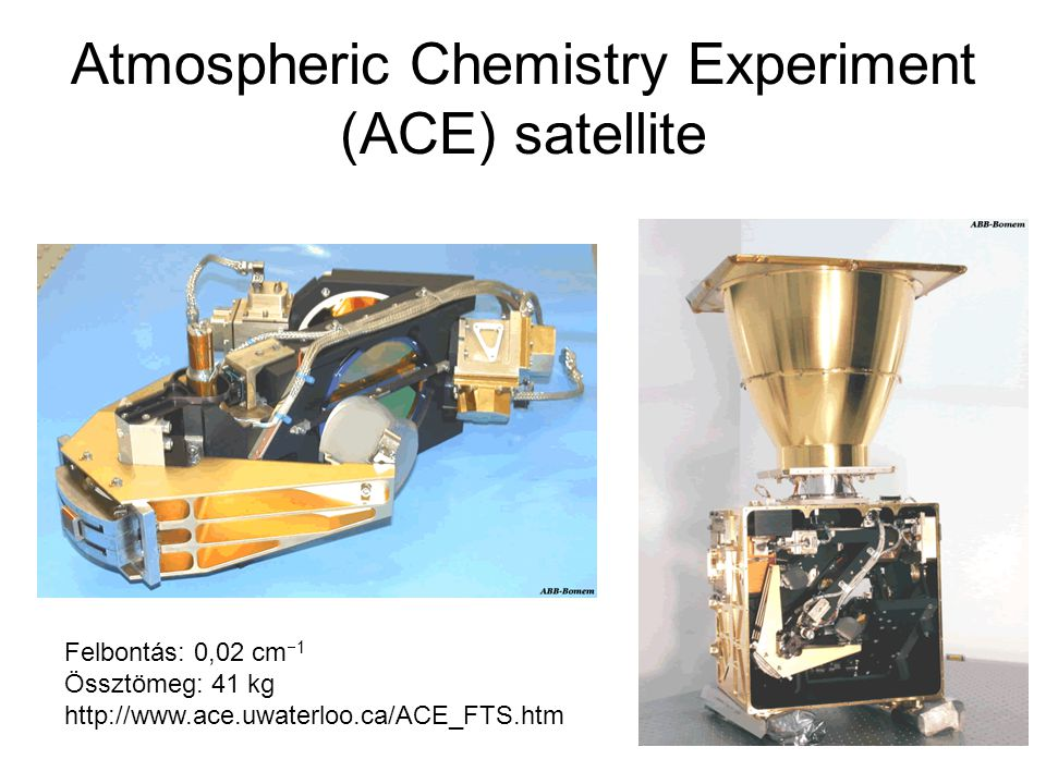 Atmospheric Chemistry Experiment (ACE) satellite