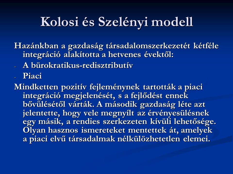 Kolosi és Szelényi modell