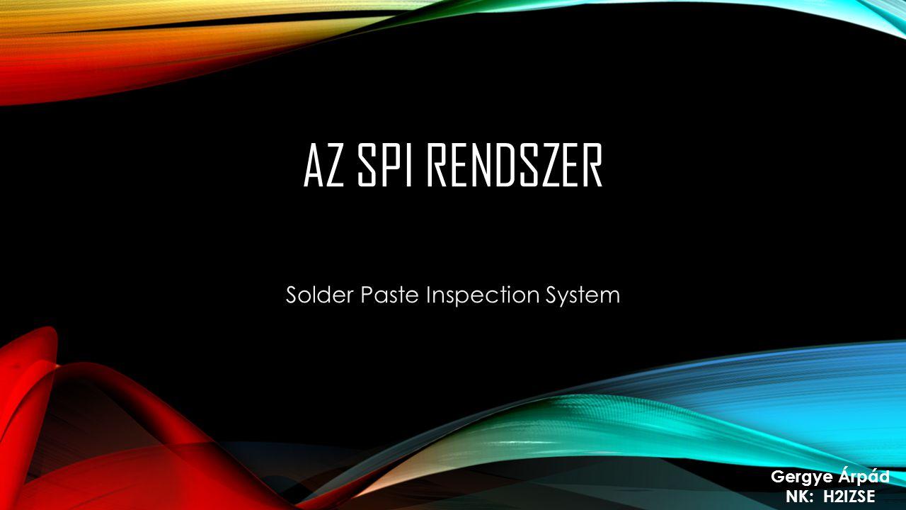 Solder Paste Inspection System