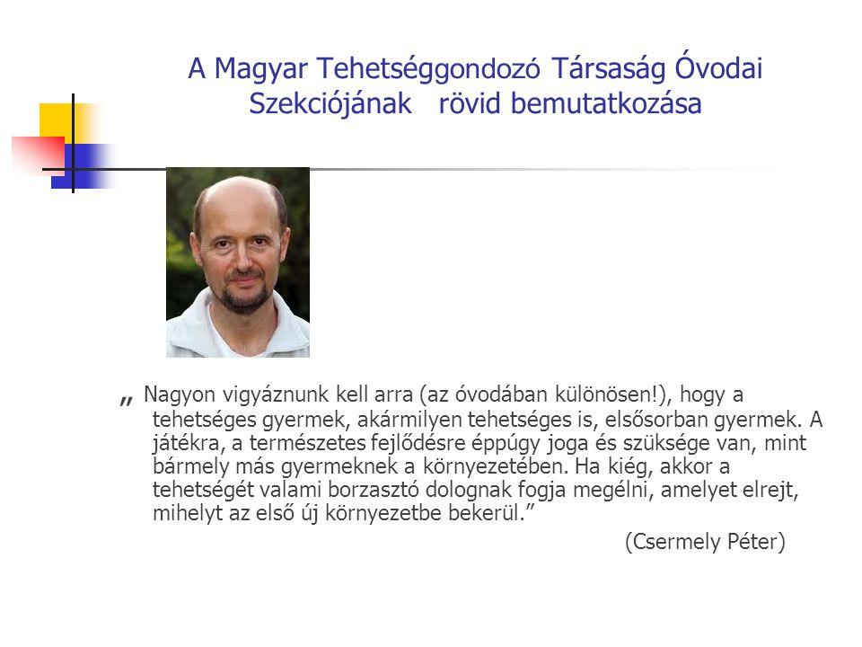 A Magyar Tehetséggondozó Társaság Óvodai Szekciójának rövid bemutatkozása