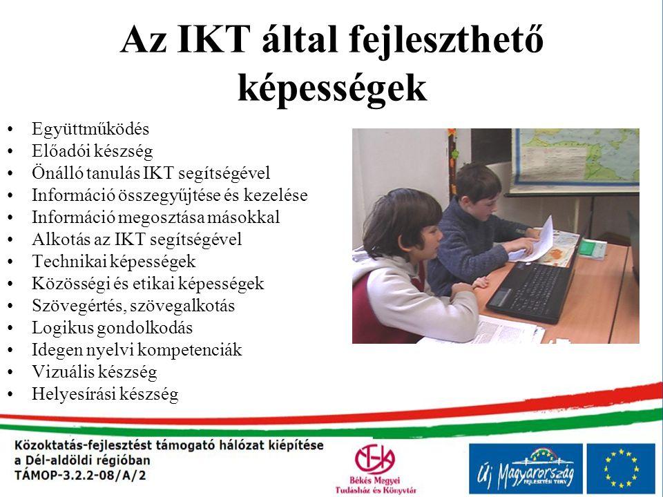 Az IKT által fejleszthető képességek