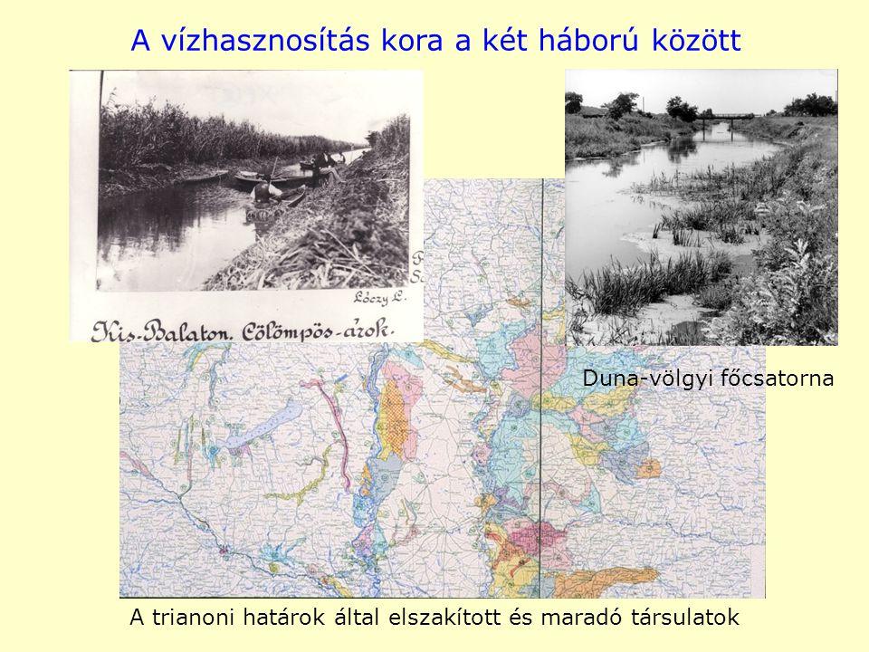 A vízhasznosítás kora a két háború között