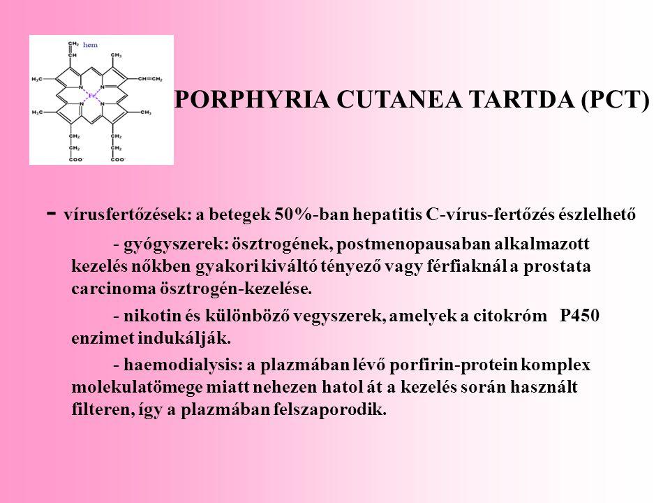 PORPHYRIA CUTANEA TARTDA (PCT)