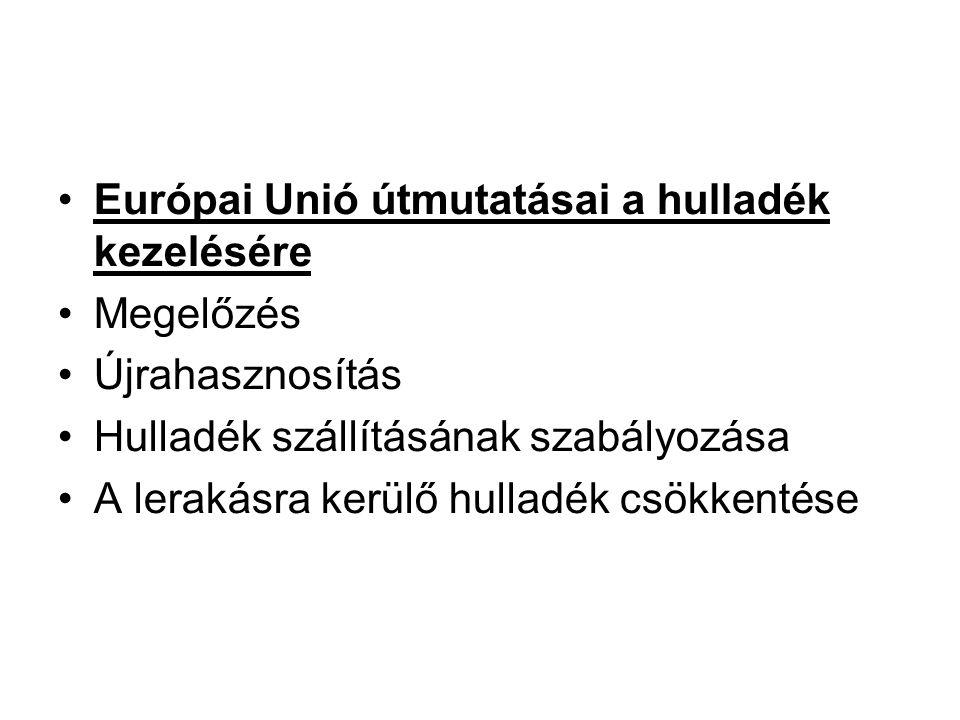 Európai Unió útmutatásai a hulladék kezelésére