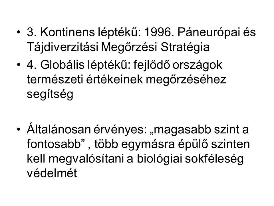 3. Kontinens léptékű: 1996. Páneurópai és Tájdiverzitási Megőrzési Stratégia