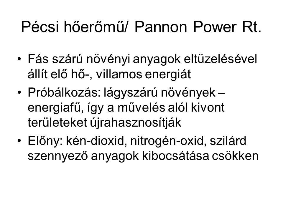 Pécsi hőerőmű/ Pannon Power Rt.