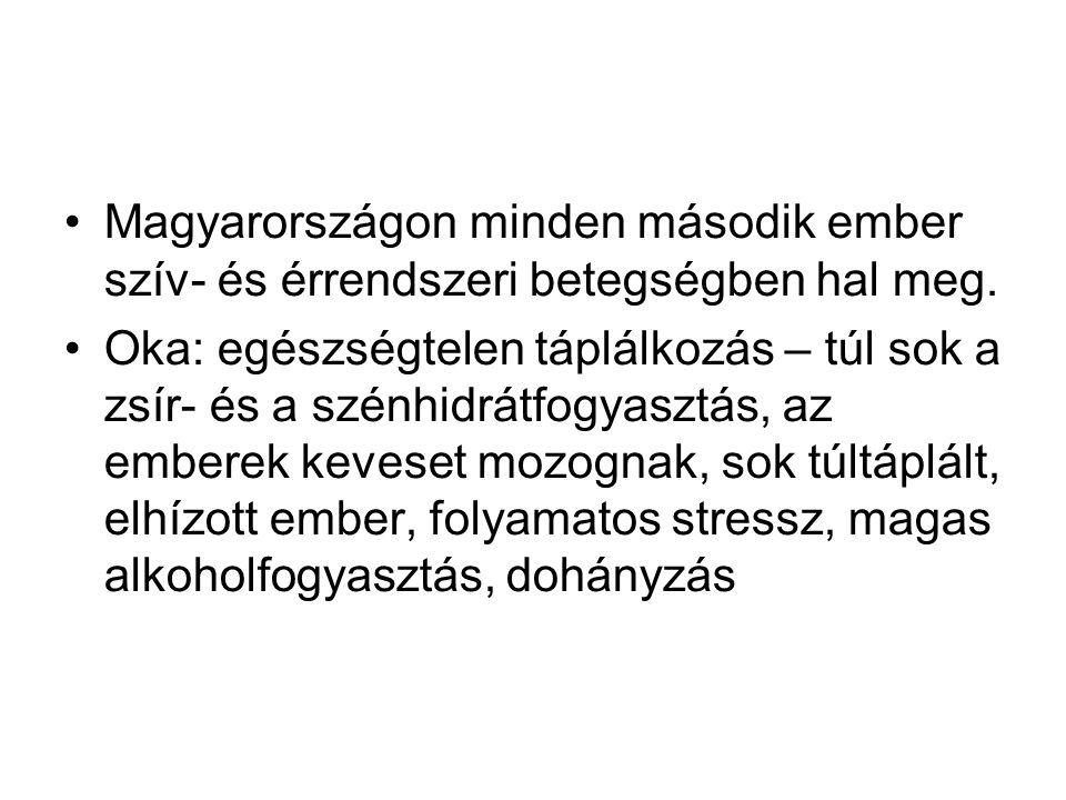 Magyarországon minden második ember szív- és érrendszeri betegségben hal meg.