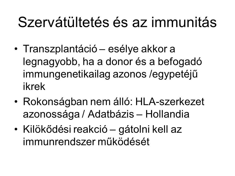 Szervátültetés és az immunitás