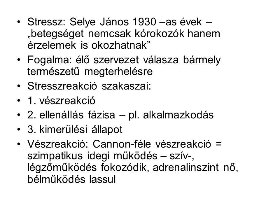"""Stressz: Selye János 1930 –as évek – """"betegséget nemcsak kórokozók hanem érzelemek is okozhatnak"""