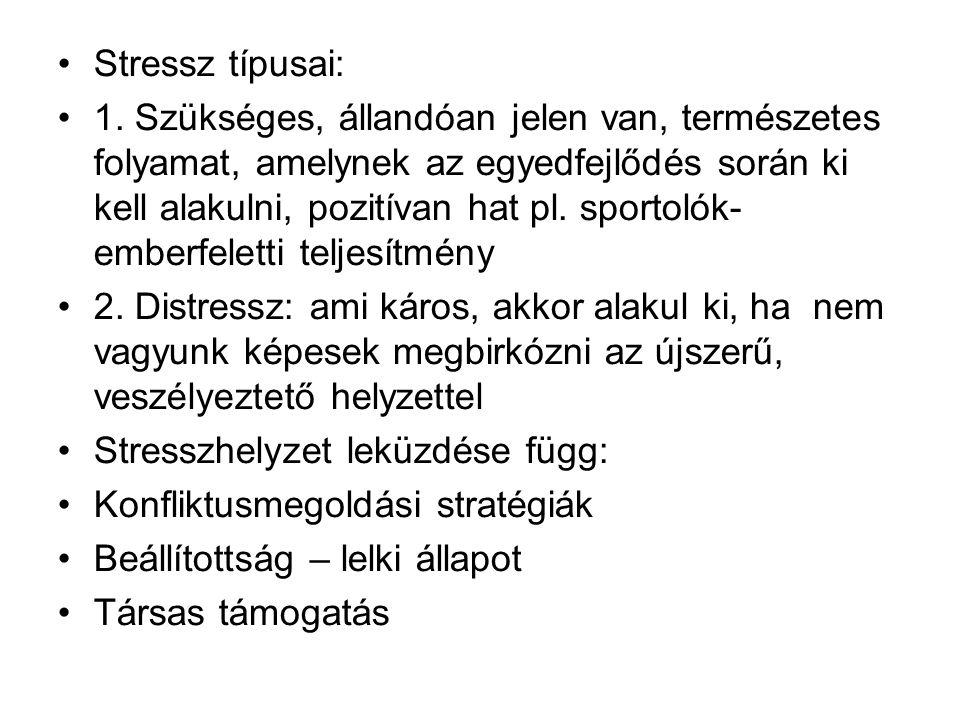 Stressz típusai: