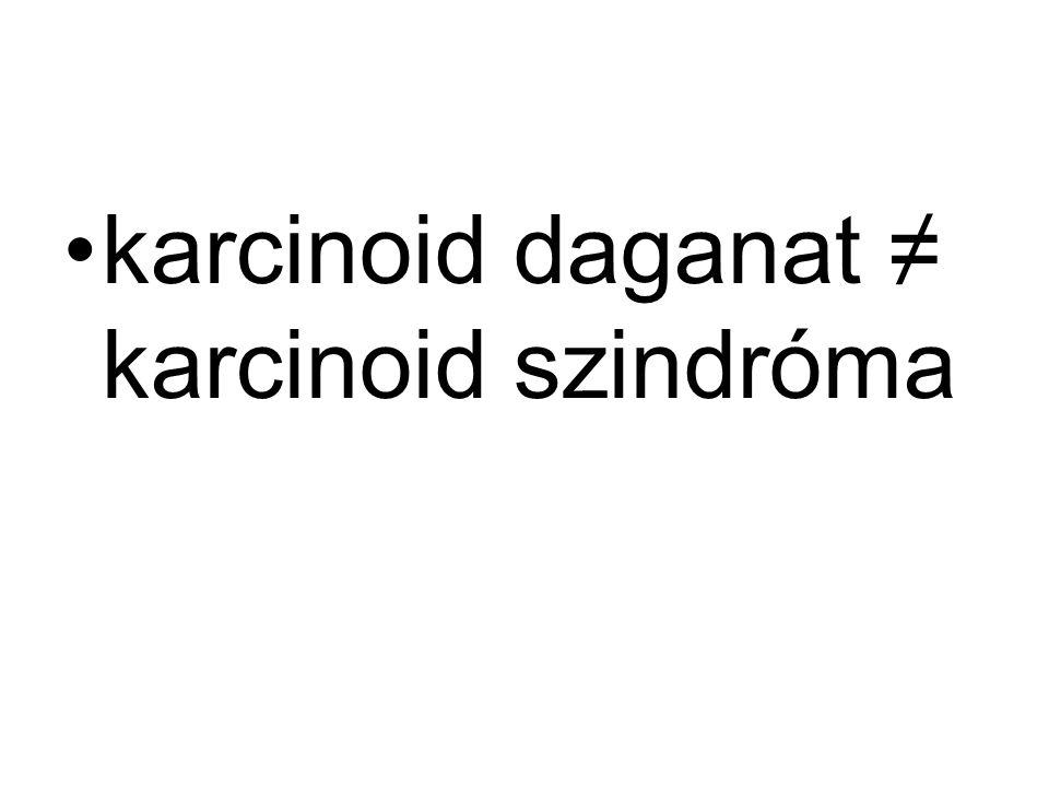 karcinoid daganat ≠ karcinoid szindróma
