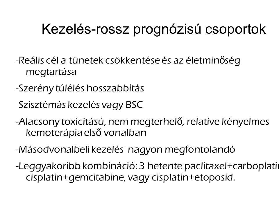 Kezelés-rossz prognózisú csoportok