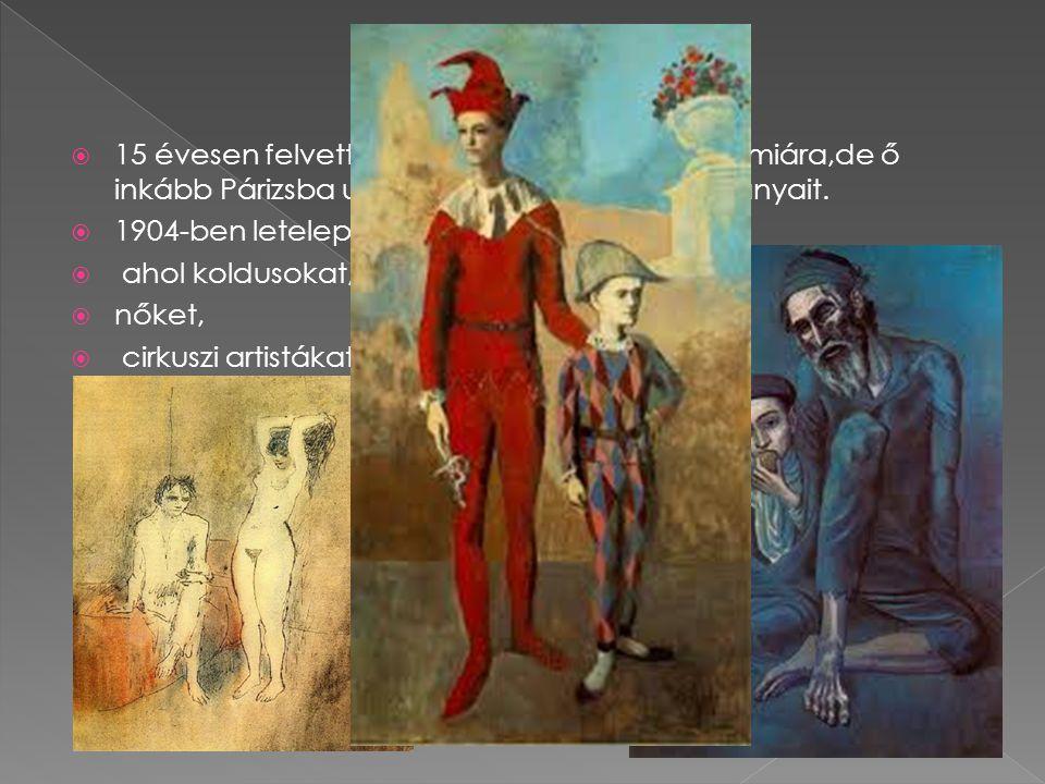 Munkássága 15 évesen felvették a képzőművészeti akadémiára,de ő inkább Párizsba utazott és ott kezdte tanulmányait.