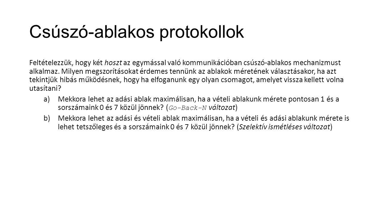 Csúszó-ablakos protokollok