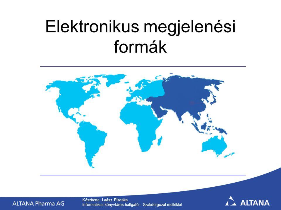 Elektronikus megjelenési formák