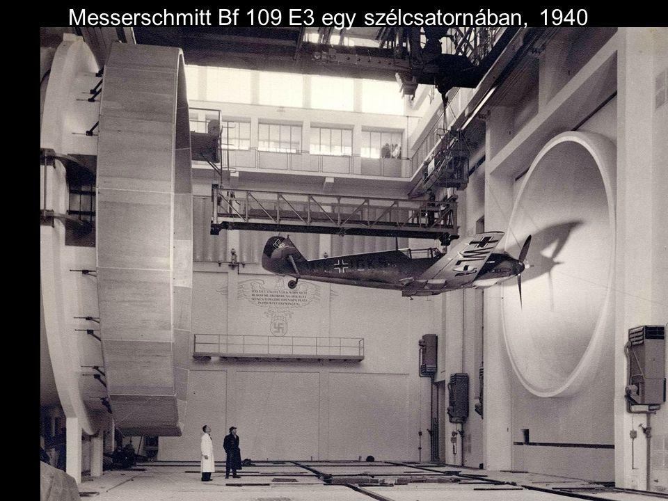 Messerschmitt Bf 109 E3 egy szélcsatornában, 1940