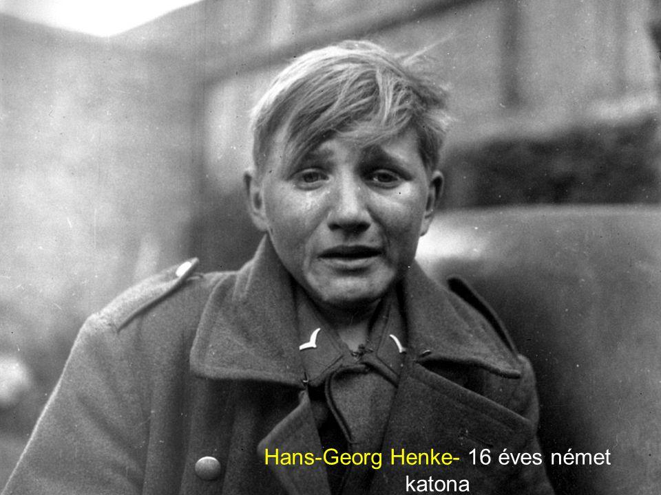 Hans-Georg Henke- 16 éves német katona