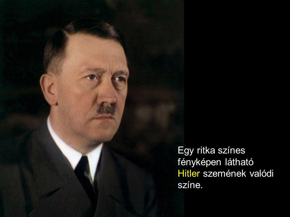 Egy ritka színes fényképen látható Hitler szemének valódi színe.