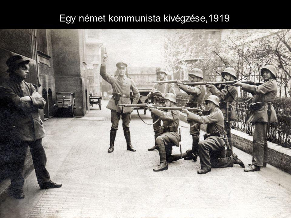 Egy német kommunista kivégzése,1919