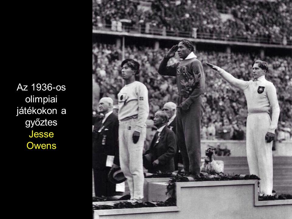 Az 1936-os olimpiai játékokon a győztes