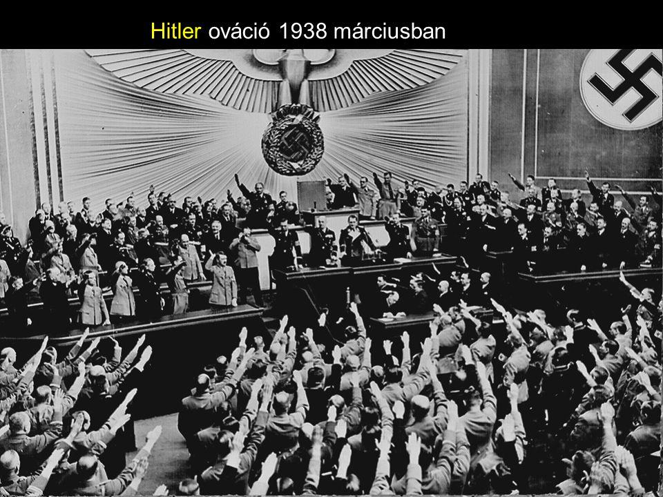Hitler ováció 1938 márciusban
