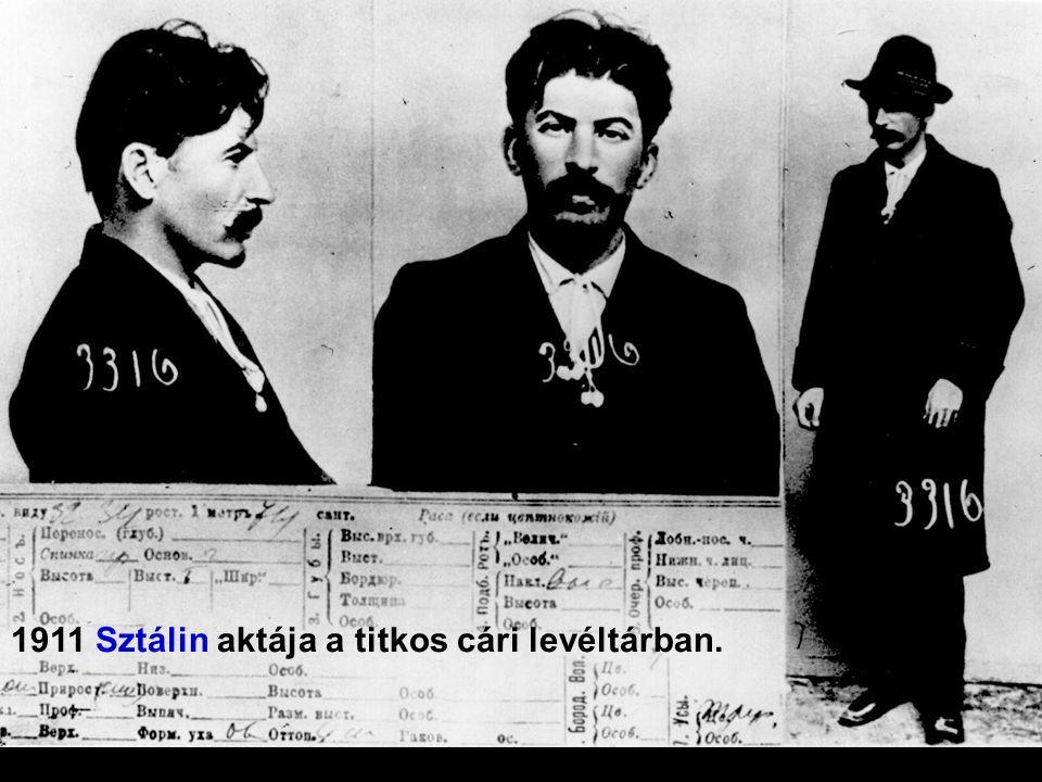 1911 Sztálin aktája a titkos cári levéltárban.