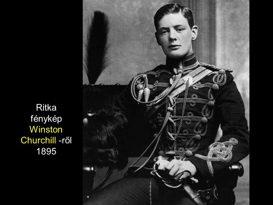 Ritka fénykép Winston Churchill -ről 1895