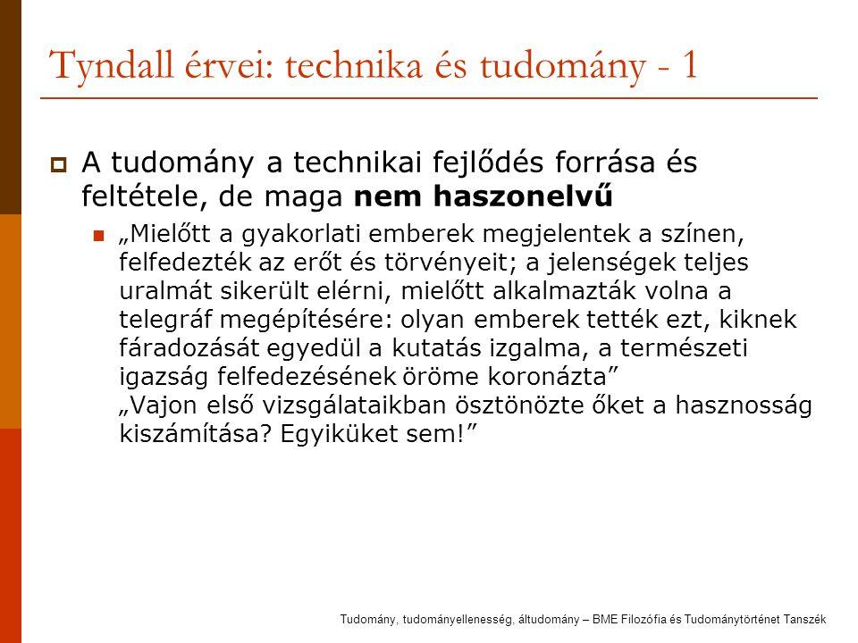 Tyndall érvei: technika és tudomány - 1