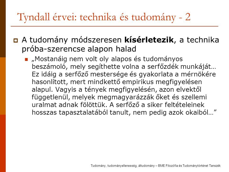 Tyndall érvei: technika és tudomány - 2