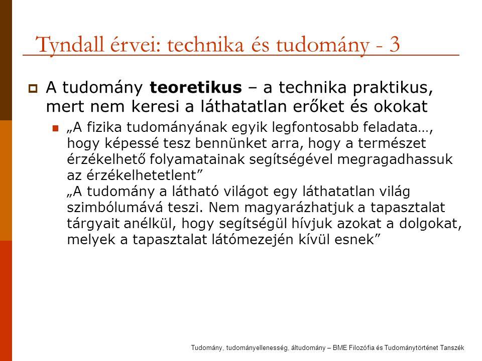 Tyndall érvei: technika és tudomány - 3