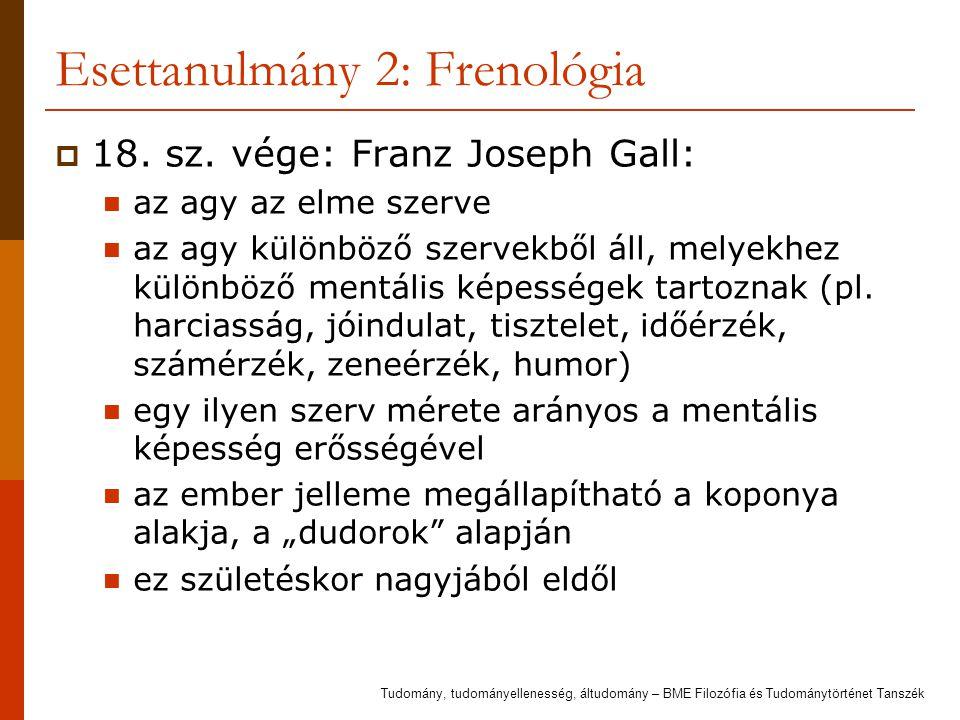 Esettanulmány 2: Frenológia