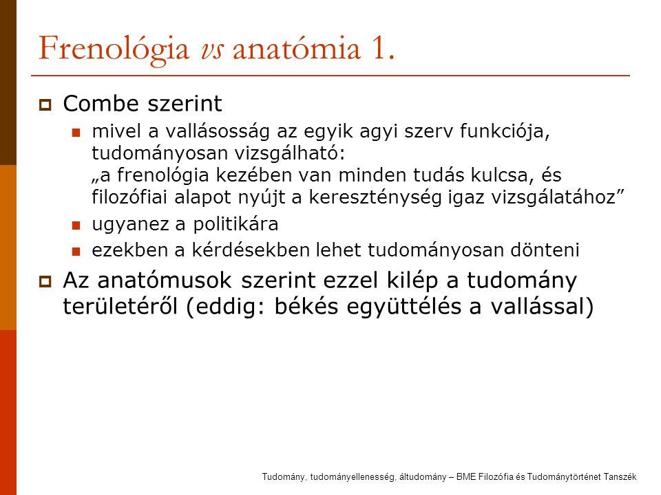 Frenológia vs anatómia 1.