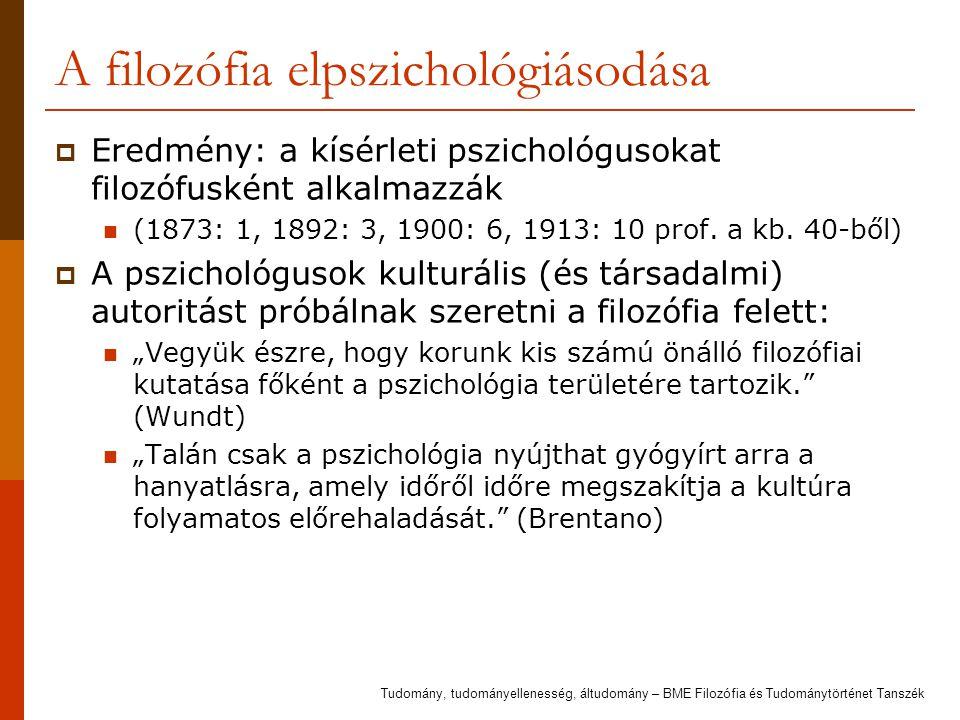 A filozófia elpszichológiásodása