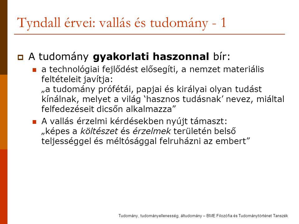 Tyndall érvei: vallás és tudomány - 1