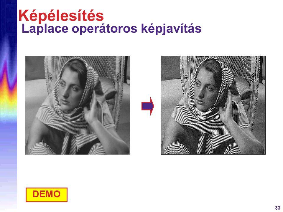 Képélesítés Laplace operátoros képjavítás DEMO