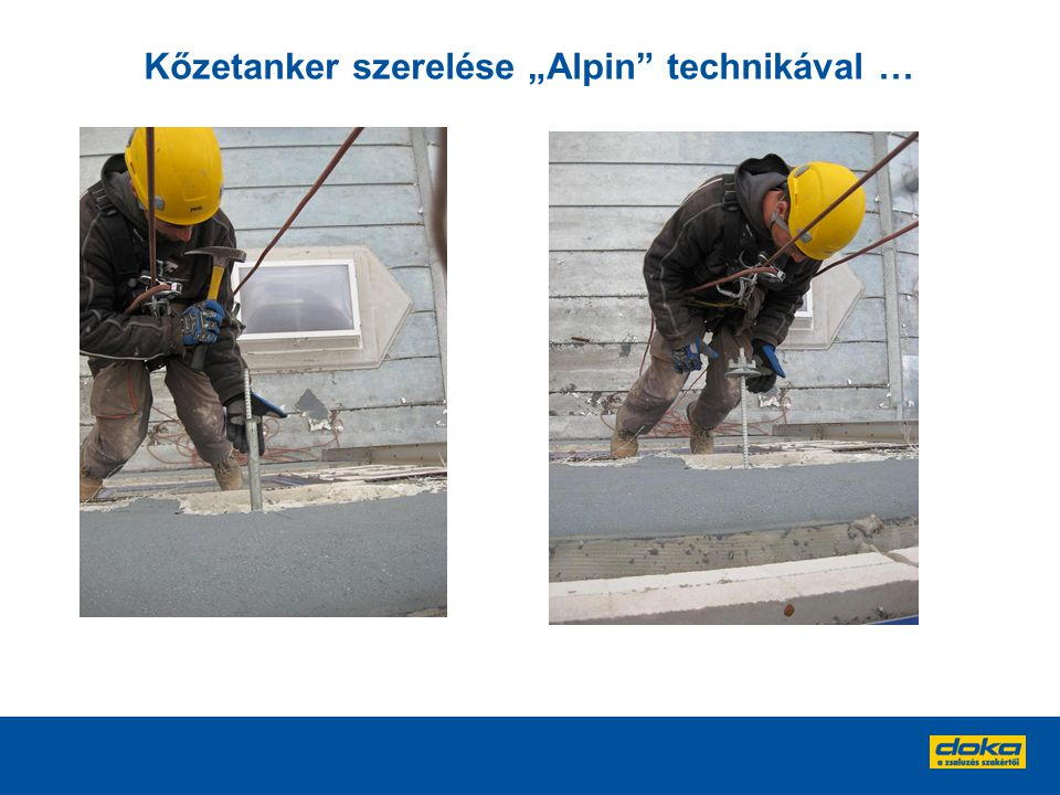 """Kőzetanker szerelése """"Alpin technikával …"""