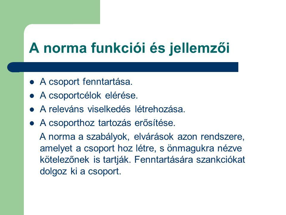 A norma funkciói és jellemzői
