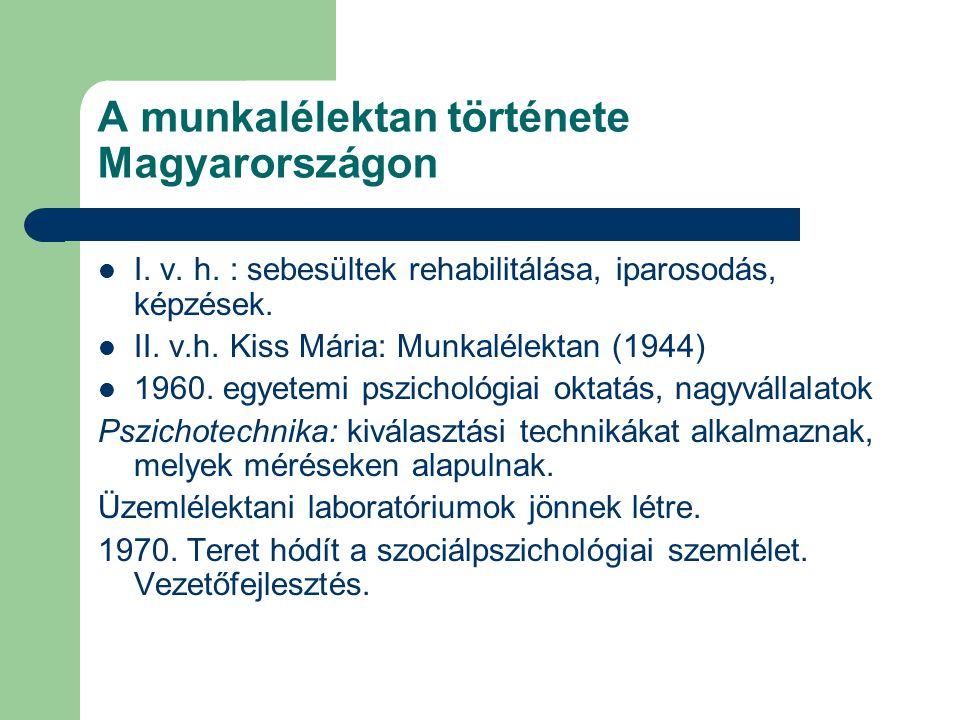 A munkalélektan története Magyarországon